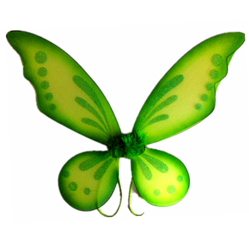 Green Adult Fantasy Butterfly Fairy Wings Tinkerbell Womens Costume Accessory