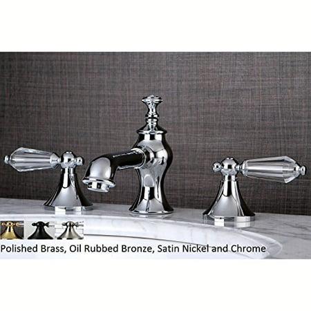Kingston Brass Crystal Widespread Bathroom Faucet