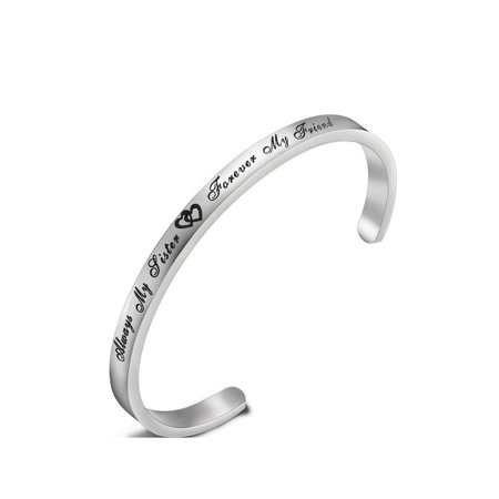 Always My Sister Forever My Friend Bracelet Cuff bracelet Best Friend Bracelet Gift for