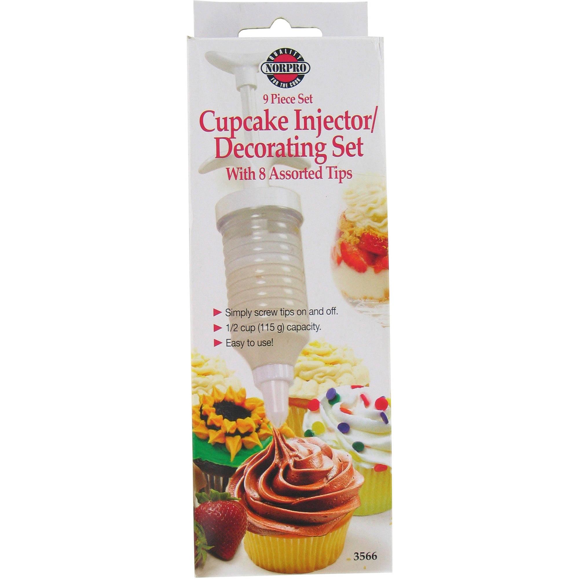 Cupcake Injector Decorating Piece Set Walmart Com