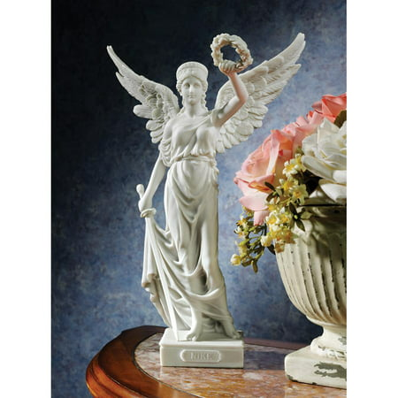 Design Toscano Nike, the Winged Goddess of Victory Bonded Marble Resin