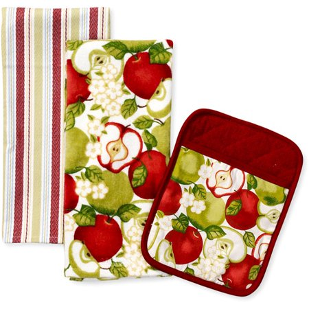 Better Homes And Gardens Apples Kitchen Towel And Pot