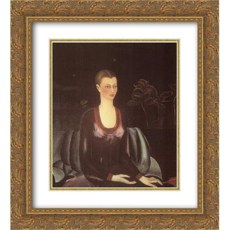 e0069217a277 Frida Kahlo 2x Matted 20x22 Gold Ornate Framed Art Print  Portrait of  Alicia Galant  - Walmart.com