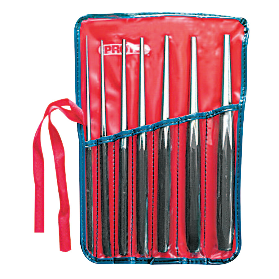Proto Drift Punch Sets, Round, English, Kit Pouch; 7 Punches, 10 in