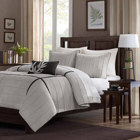 home essence lancaster 4 piece microsuede comforter set. Black Bedroom Furniture Sets. Home Design Ideas