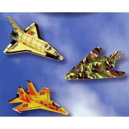 Set of 3 Aircraft Foam Gliders Space Shuttle, Interceptor & (Interceptor Aircraft)