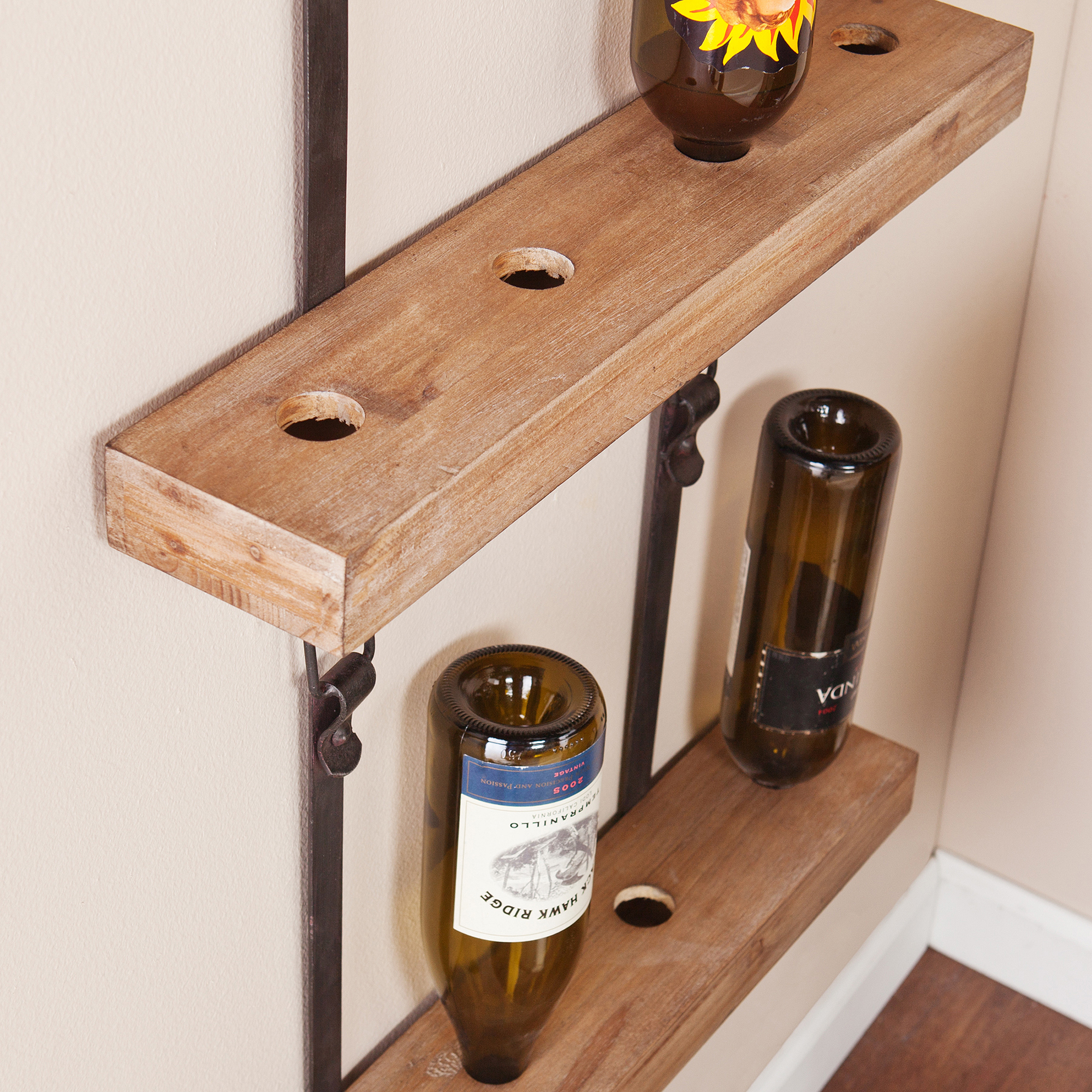 Industrial Wall-Mount Wine Storage