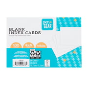 """Pen + Gear Unruled Index Cards, White, 100 Count, 4"""" x 6"""""""