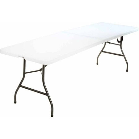 (3-Pack) Cosco 8 Foot Centerfold Folding Table, White