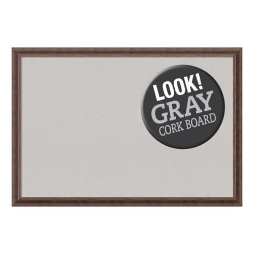 Amanti Art DSWDISCB3927 Distressed 39 Inch x 27 Inch Framed Cork Board