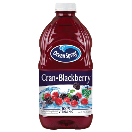 Juice Drinks - (2 pack) Ocean Spray Cran-Blackberry Juice Drink, Cranberry Blackberry, 64oz, 1ct