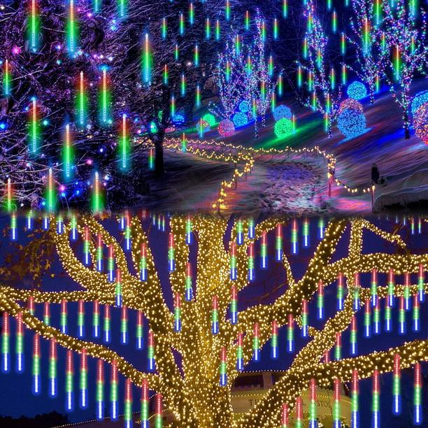 144//288 LED Waterproof Lights Meteor Shower Rain 8 Tube Tree Outdoor Light Decor
