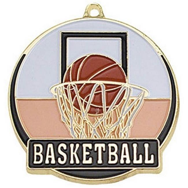 SIMBA HTM203G 2 in. High Tech Medallion Basketball, Gold - Pack of 25
