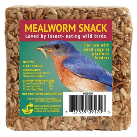 Small Mealworm Snack Cake for Wild Birds, 4 oz. (Best Substrate For Mealworms)