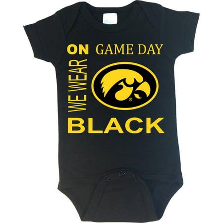 Iowa Hawkeye Baby Clothes - Iowa Hawkeyes On Game Day Baby Onesie