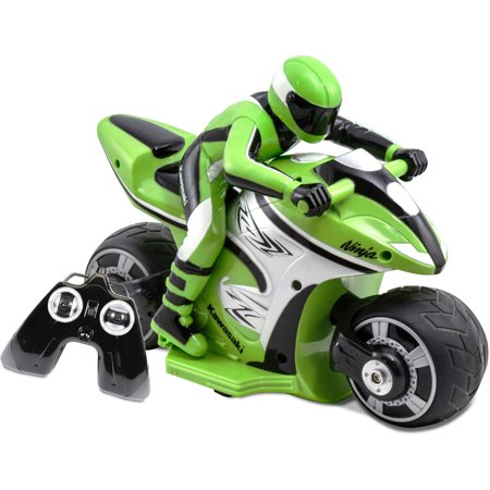 Kid Galaxy Kawasaki Ninja Rc Cycle  Green And Black