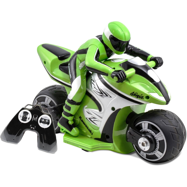 Kid Galaxy Kawasaki Ninja RC Cycle, Green and Black