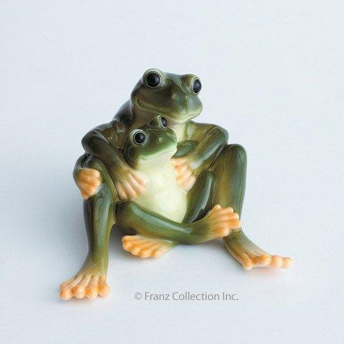 Franz Porcelain - Figurine - Amphibia Mother & Daughter Frog
