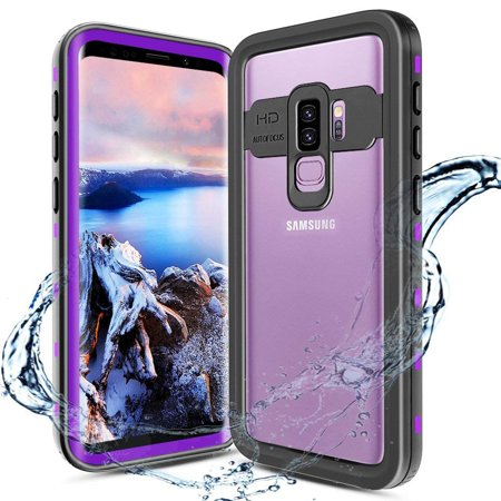 Galaxy S9 Waterproof Case, Shockproof Built-in Screen Protector Case Full-Body Rugged Resistant Protective Hard Cover For Samsung Galaxy S9,Purple