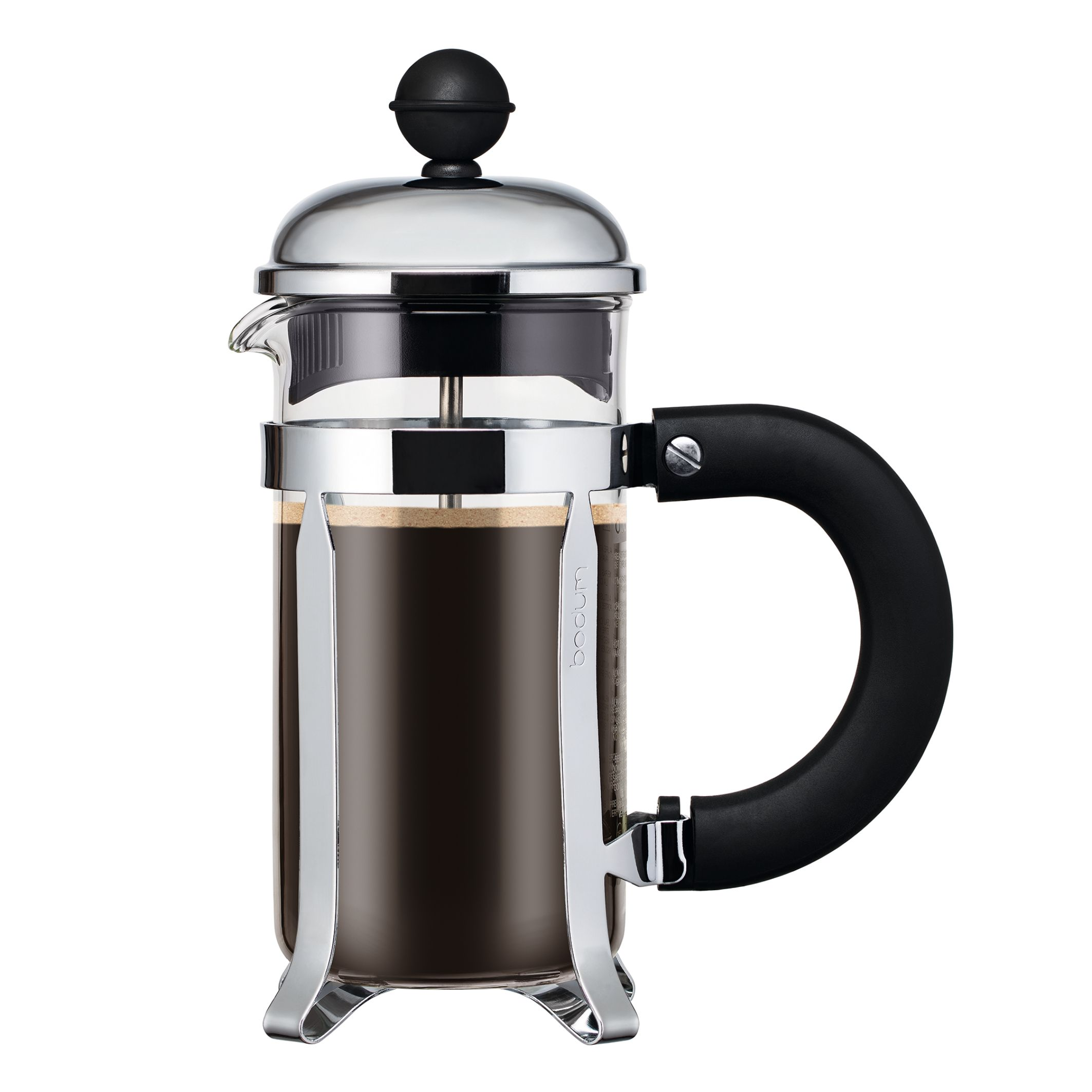 Bodum CHAMBORD French Press Coffee Maker with Santoprene Handle, .35L, 12oz, 3 Cup, Chrome