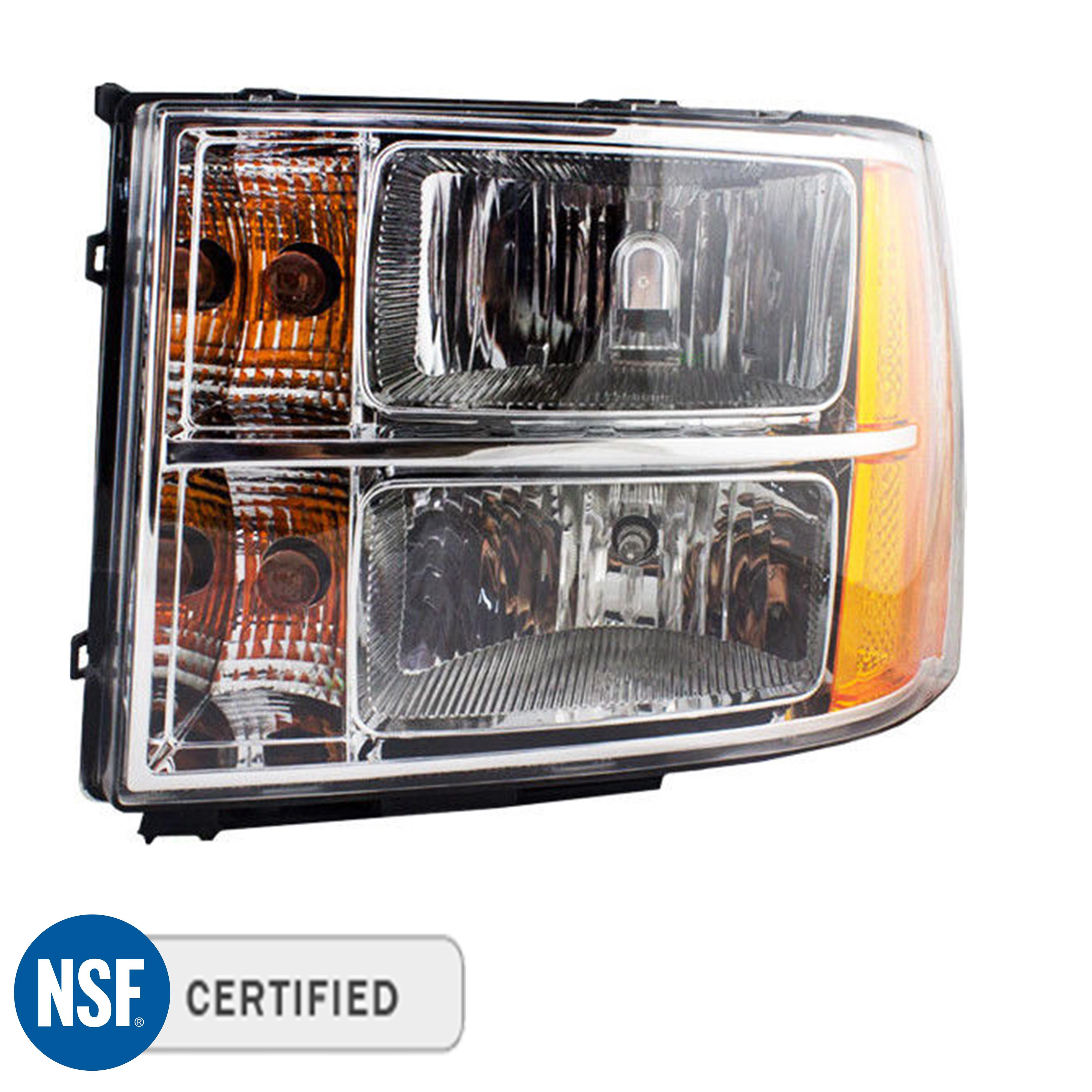 Gm2502283 Headlight Headlamp Passenger Side For Gmc Fits Sierra 1500