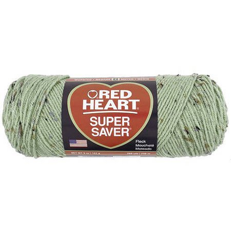 Red Heart Super Saver Yarn  Frostly Green Fleck