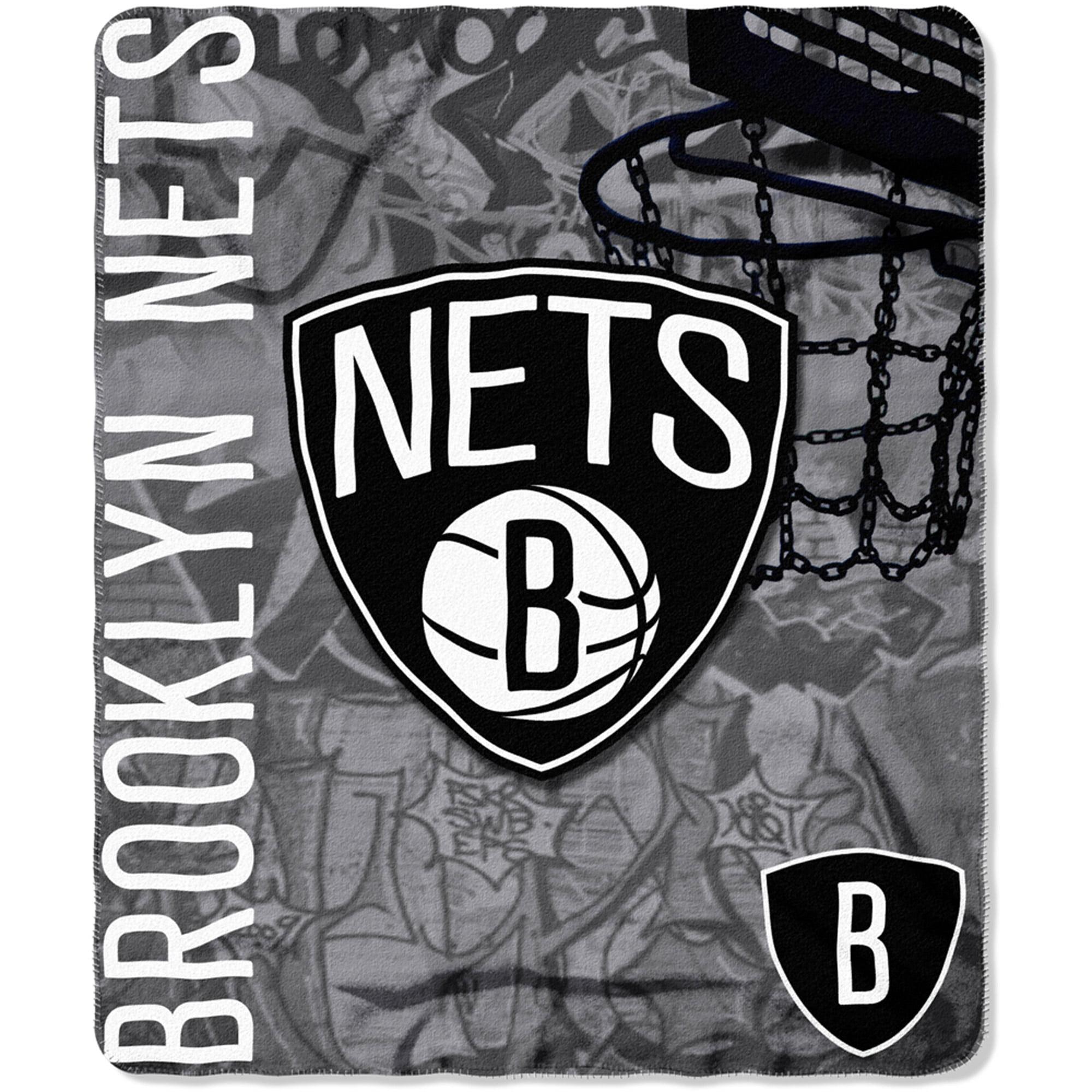"""NBA Brooklyn Nets 50"""" x 60"""" Fleece Throw"""
