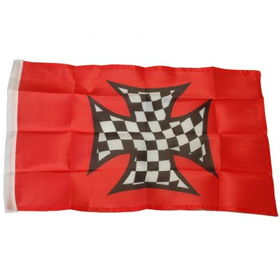 Small 12 Inch X 20 Inch Replacement Flag For Whip Antenna Checkered Iron Cross (Replacement Glass Vaporizer Whip)