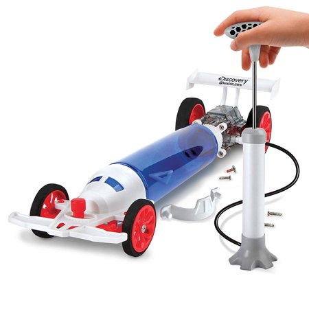 Discovery Kids Turbo Air Racer DIY Air-Powered Dragster Kit, STEM You Build It, All Parts Included, Fast Alternative-Power Toy Racecar, No Batteries Needed, Fun Science Project for Boys and Girls