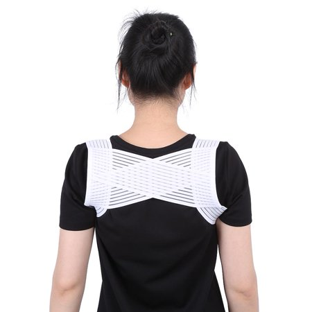 Fosa Back Posture Corrector, Breathable Elastic X Type Clavicle Shoulder Support Belt Prevent Humpbacked Correction Straighten Vest Suit for weight between 45-60kg People