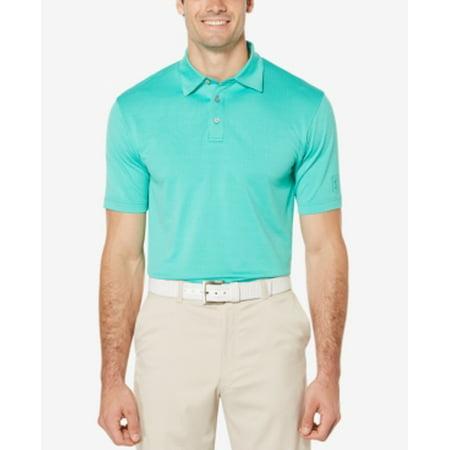 PGA TOUR Men's Mini-Geo Testured Golf Polo Shirt Size S