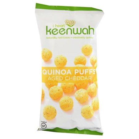 I Heart Keenwah Quinoa Puffs Aged Cheddar, 3 - Aged Cheese Puffs