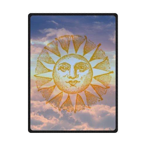CADecor Sun Painting Sky Fleece Blanket Throws 58x80 inches