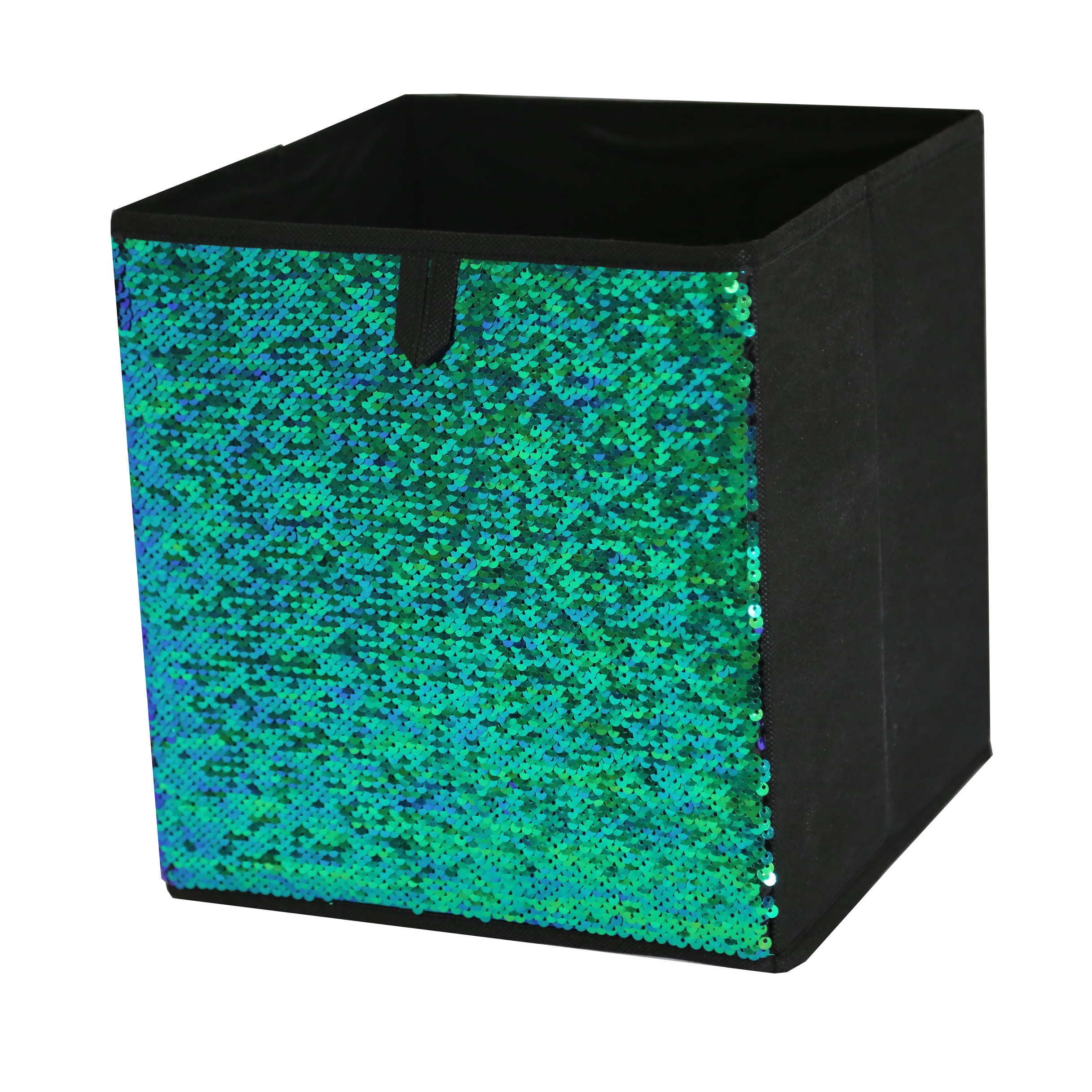 Mainstays Reversible Sequin Collapsible Storage Cube (10.5 x 10.5), 1 piece