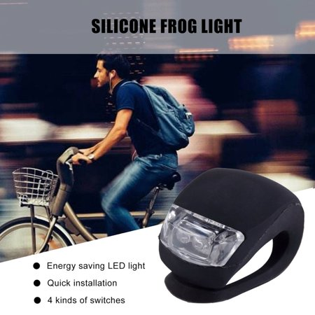 HC-TOP LED Bicycle Bike Cycling Silicone Head Front Rear Wheel Safety Light Lamp - image 2 of 6