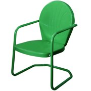 34-Inch Outdoor Retro Tulip Armchair, Forest Green