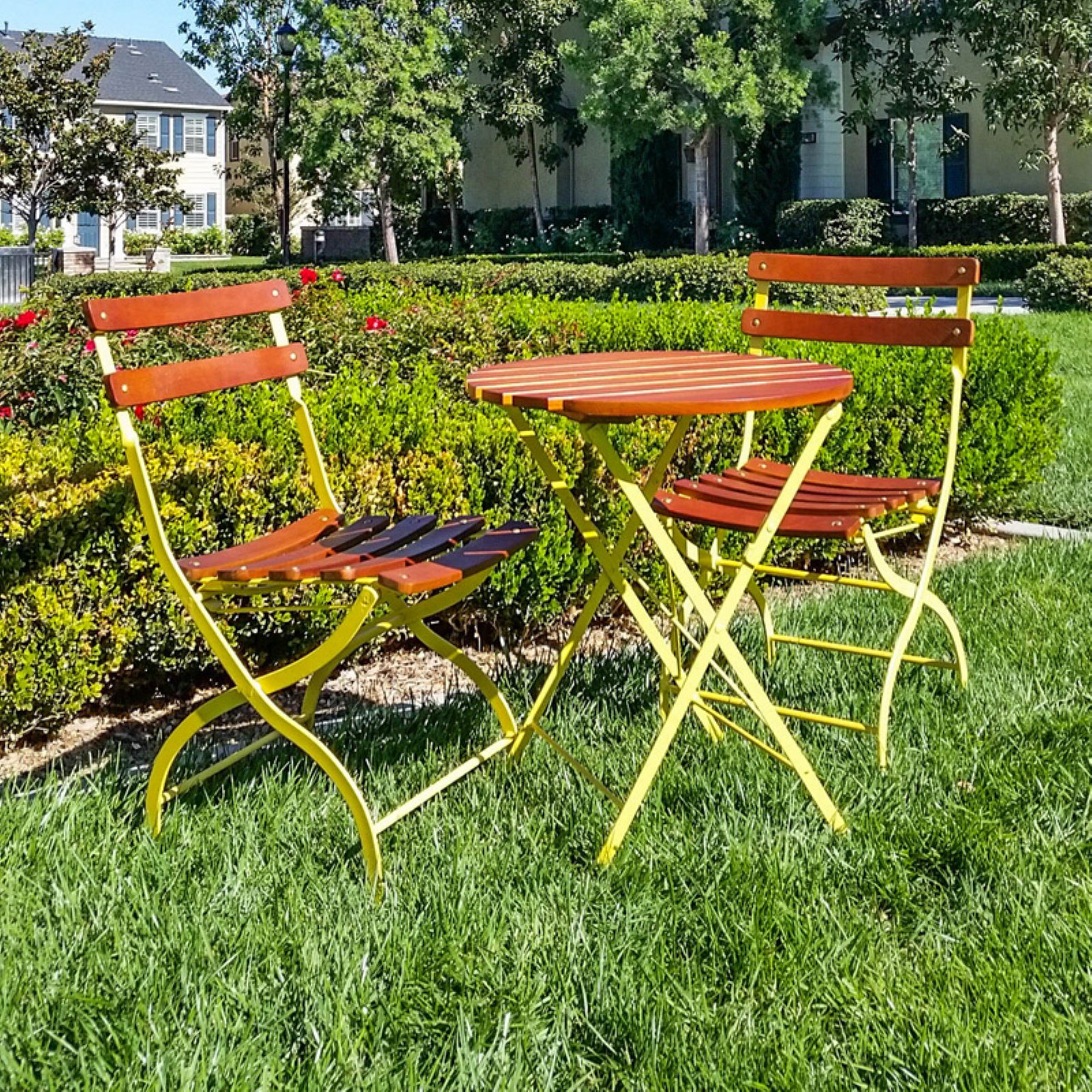 Innova Uptown 3-Piece Folding Outdoor Bistro Set