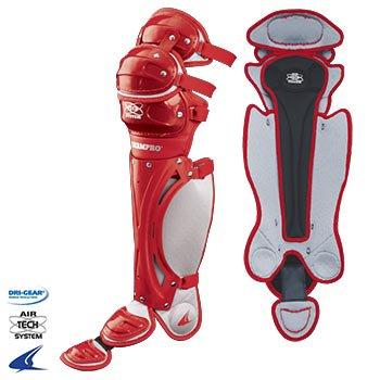 Pro Plus Airtech Catcher Leg Guards- 14.5''L, Scarlet Red