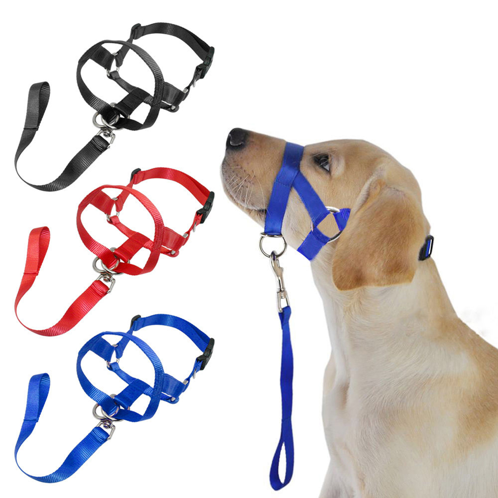 Girl12Queen Soft Nylon Dog Pet Head Collar Training Mouth Cage Anti Bite Chew Safety Mask