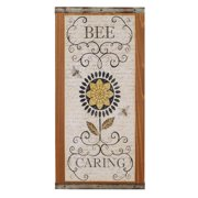 Blossom Bucket 'Bee Caring' Sign Wall Decor