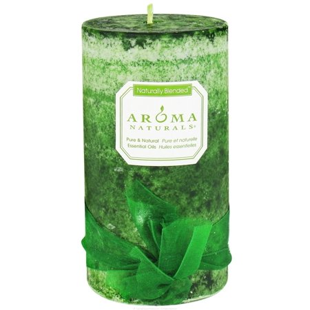 Aroma Naturals - Evergreen Holiday Naturally Blended Pillar Eco-Candle Juniper, Spruce & - Evergreen Blend