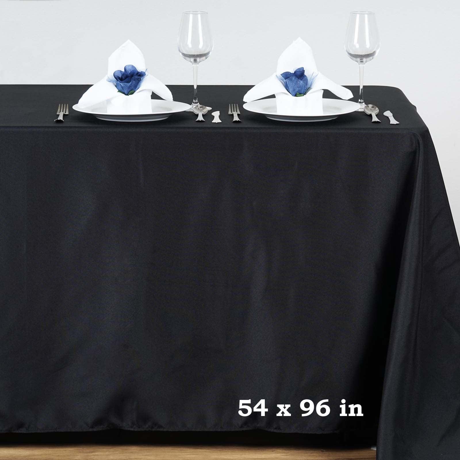 "BalsaCircle 54x96"" Polyester RECTANGULAR Tablecloth Table Linens by"