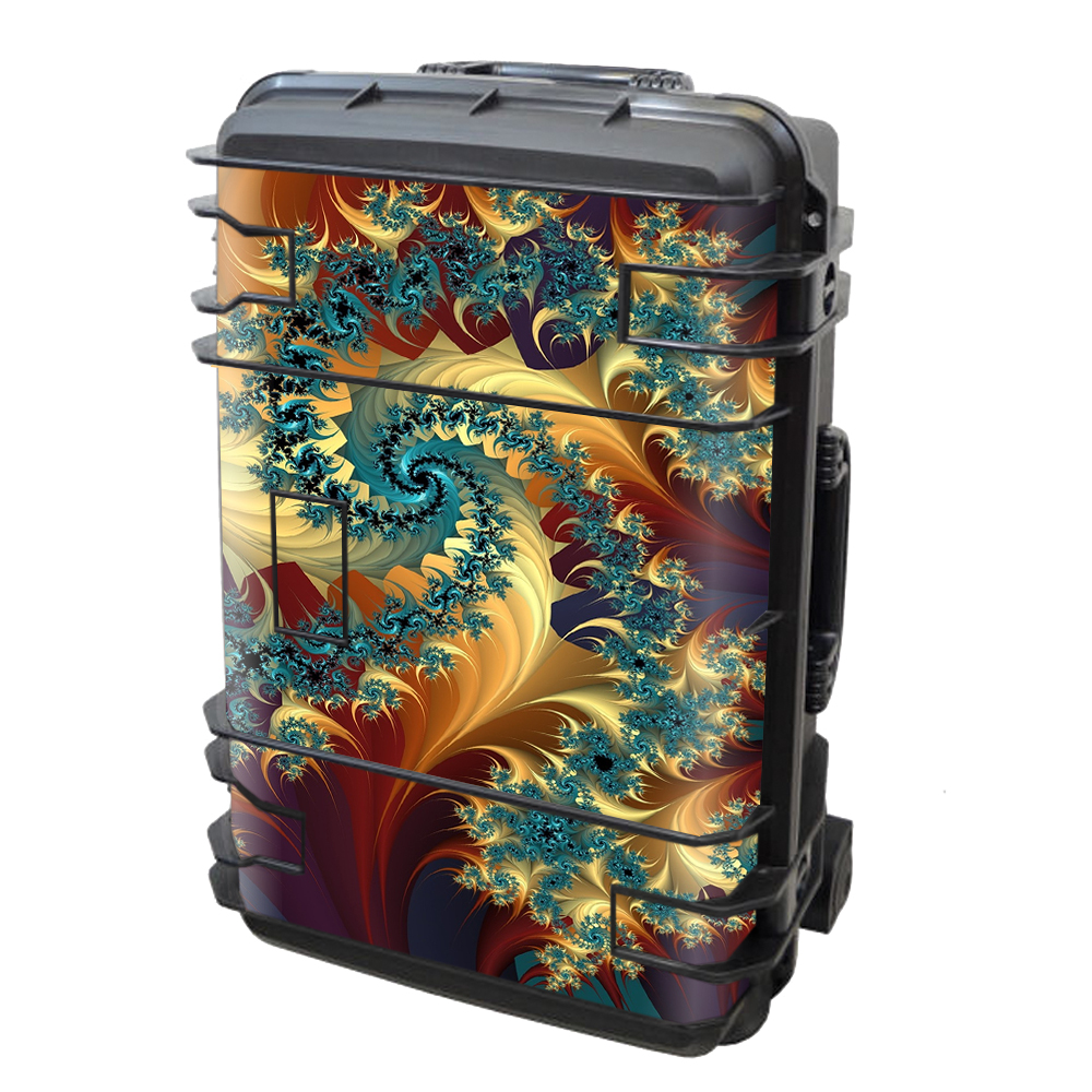 Skin Decal Vinyl Wrap for Seahorse SE-920 Case stickers skins cover/ Trippy Floral Swirl