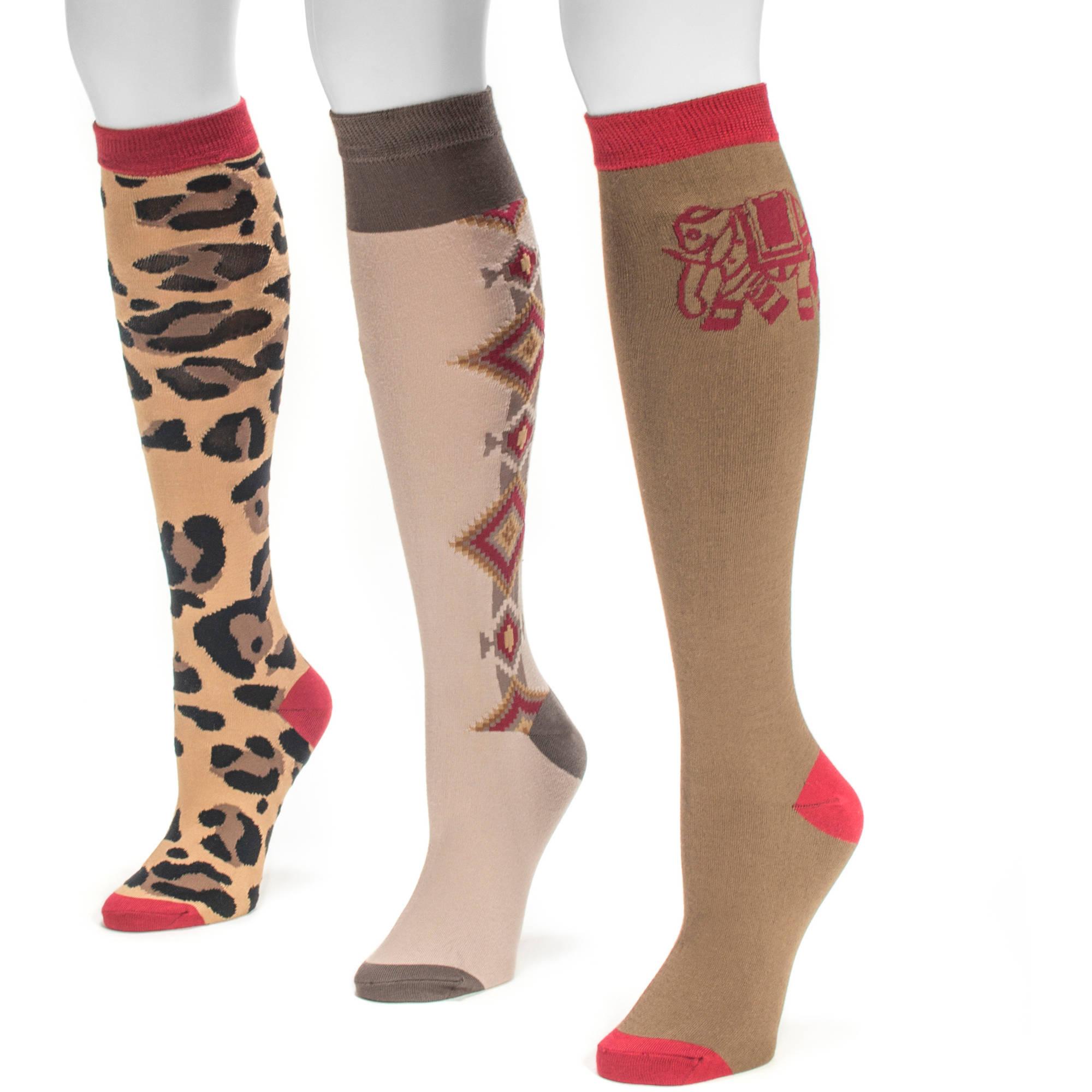 Women's Love Safari Knee High Socks (3 Pair)