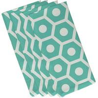 "Simply Daisy 19"" x 19"" Geometric Print Napkins, Set of 4"