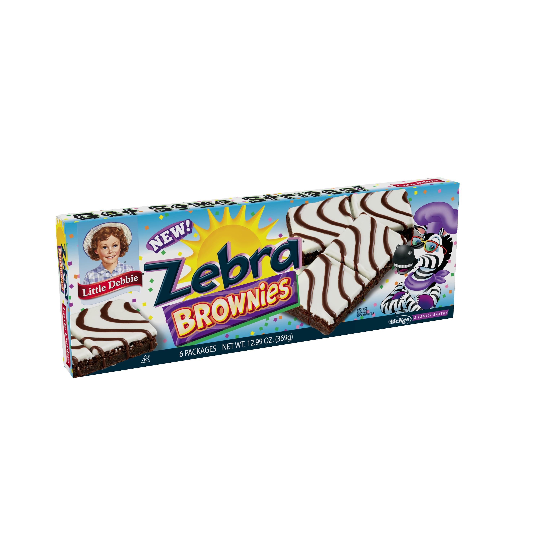 Little Debbie Zebra Brownies, 6 count