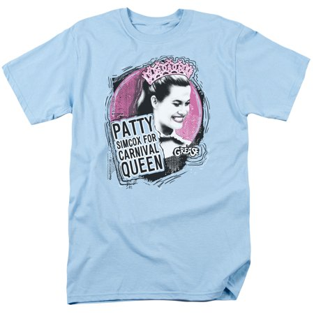 Trevco GREASE CARNIVAL QUEEN Light Blue Adult Unisex T-Shirt