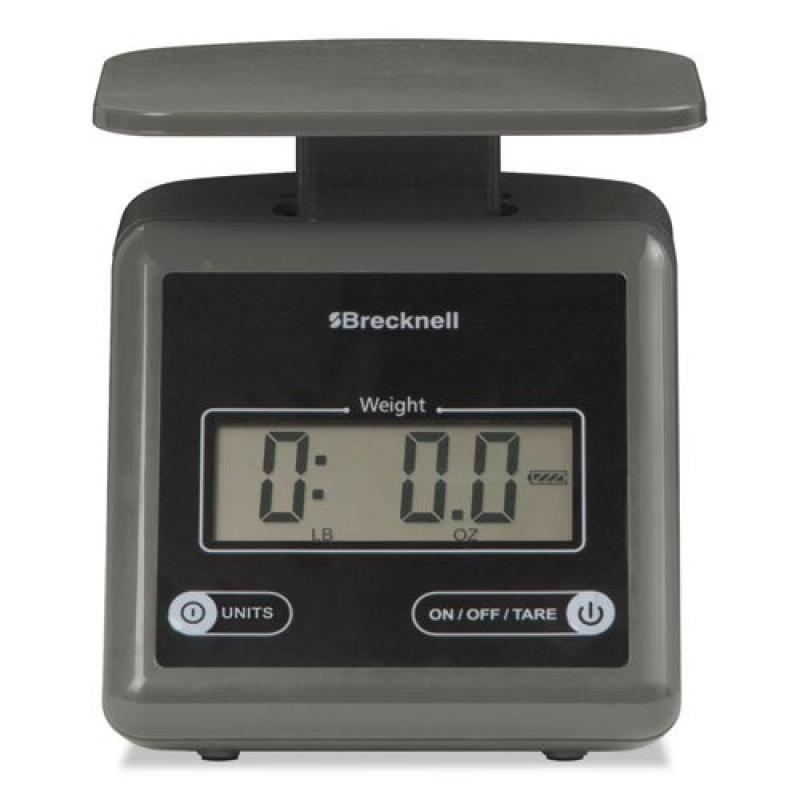 Salter Brecknell PS7 Electronic Postal Scale, 7 lbs Capacity, 6 4/5 x 5 3/5 Platform, Gray