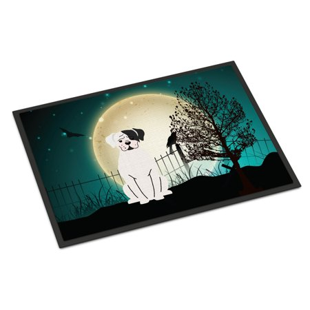 Halloween Scary White Boxer Cooper Door Mat](Halloween Classroom Door Designs)