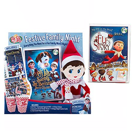 The Elf on the Shelf Festive Family Night with Original Elf Story DVD and New Santa's St. Bernards Save Christmas DVD ()